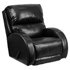 Ty Leather Rocker Recliner - Black