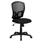 Mid Back Designer Back Swivel Task Chair - Black