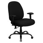 Hercules Series Big and Tall Office Chair - Height Adjustable Arms, Black