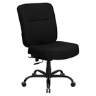 Hercules Series Big and Tall Executive Office Chair - Swivel, Black Fabric