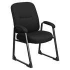 Hercules Series Big and Tall Executive Side Chair - Sled Base, Black Fabric