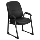 Hercules Series Big and Tall Executive Side Chair - Sled Base, Black
