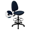 Mid Back Drafting Chair - Multi Functional, Navy
