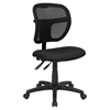 Mid Back Mesh Task Chair - Swivel, Black Padded Seat