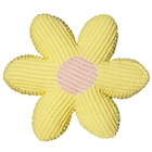 Daisy Pillow in Chenille Yellow