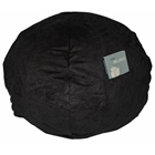 Large Beanbag in Black Micro Suede