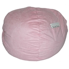 Small Beanbag in Pink Micro Suede