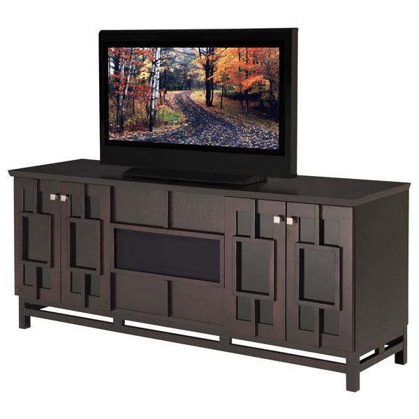 70'' Modern Asian TV Stand in Wenge