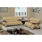 Mateus Modern Leather Sofa and Loveseat Set