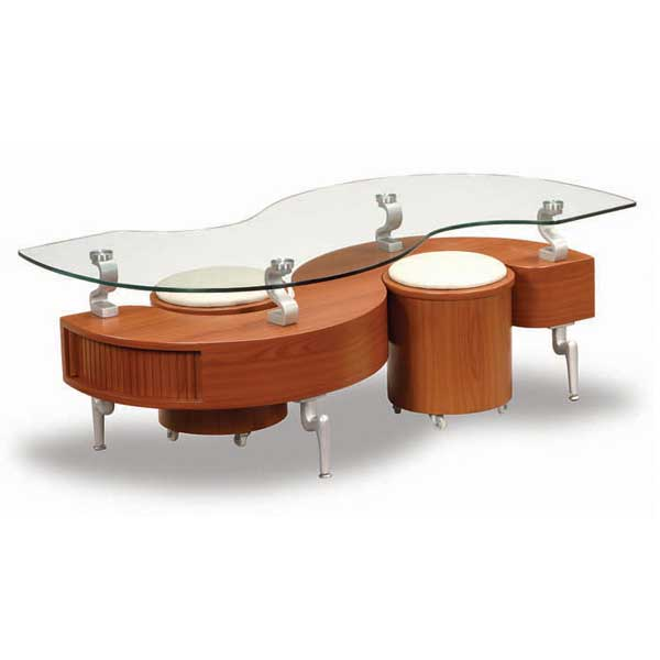 Mayara Coffee Table with Stools