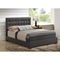 Andrew Bed - Brown, Tufted - GLO-8101-M-BED
