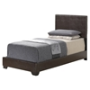 Cameron Twin Leatherette Bed in Brown