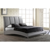 Alejandro Leatherette Bed in Gray