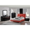 Alejandro Leatherette Bed in Red - GLO-8272-R-M-BED