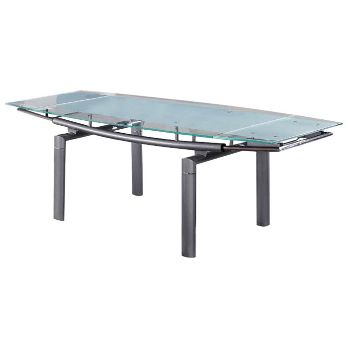 Linford Glass Top Extension Dining Table - GLO-88-DT