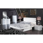 Aurora Contemporary 4 Piece Platform Bedroom Set