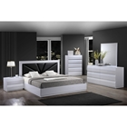 Bailey Bedroom Set in High Gloss White