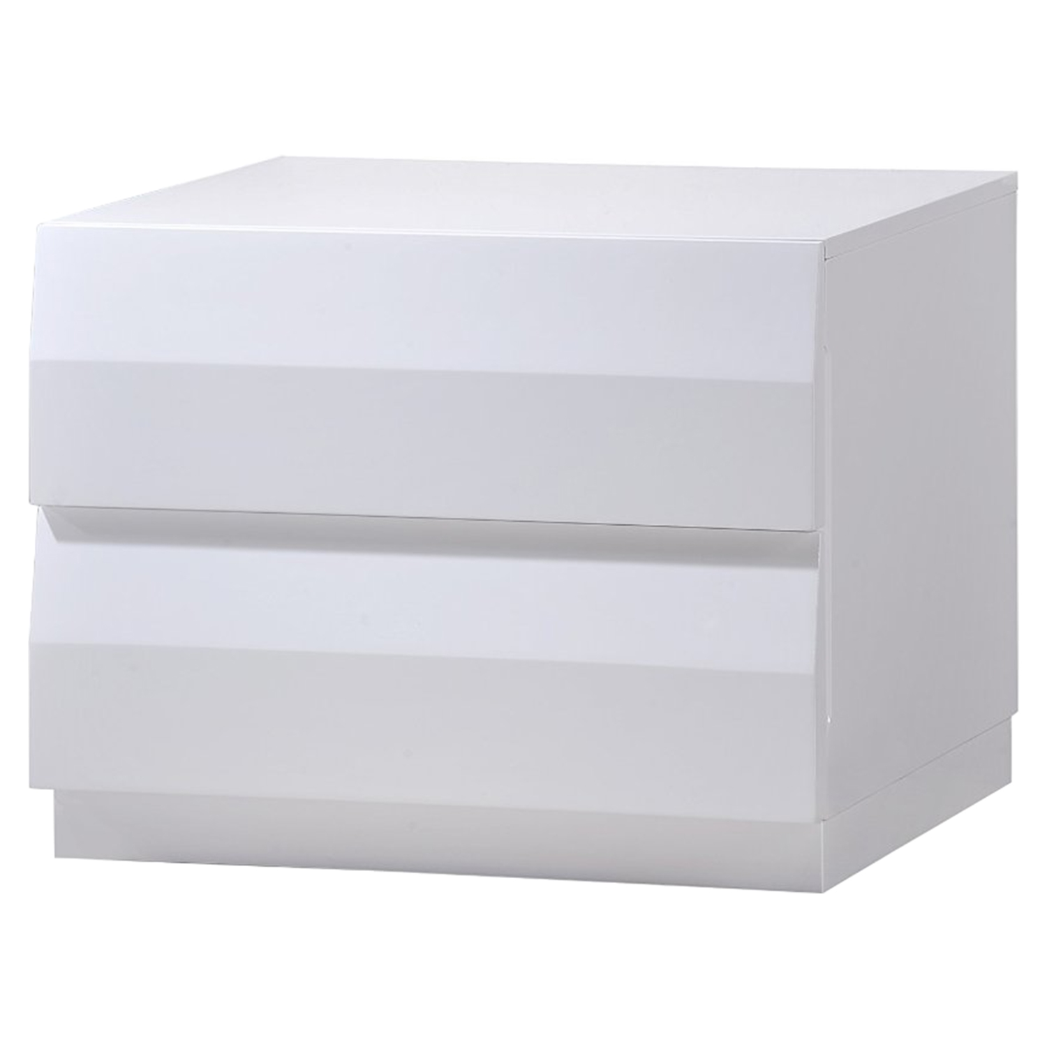 Bailey Bedroom Set in High Gloss White - GLO-BAILEY-900A-M-SET