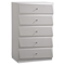 Barcelona Chest in High Gloss Silver Line - GLO-BARCELONA-116-CH