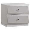 Barcelona Nightstand in High Gloss Silver Line