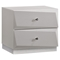 Barcelona Nightstand in High Gloss Silver Line - GLO-BARCELONA-116-NS