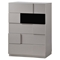 Bianca Bedroom Set in High Gloss Gray and Black - GLO-BIANCA-916-GR-BL-SET