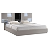 Bianca Bed in High Gloss Gray and Black