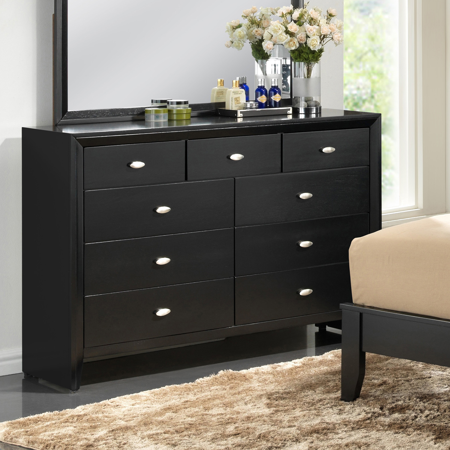 Carolina Dresser - Black - GLO-CAROLINA-FD0035B-BL-D-M