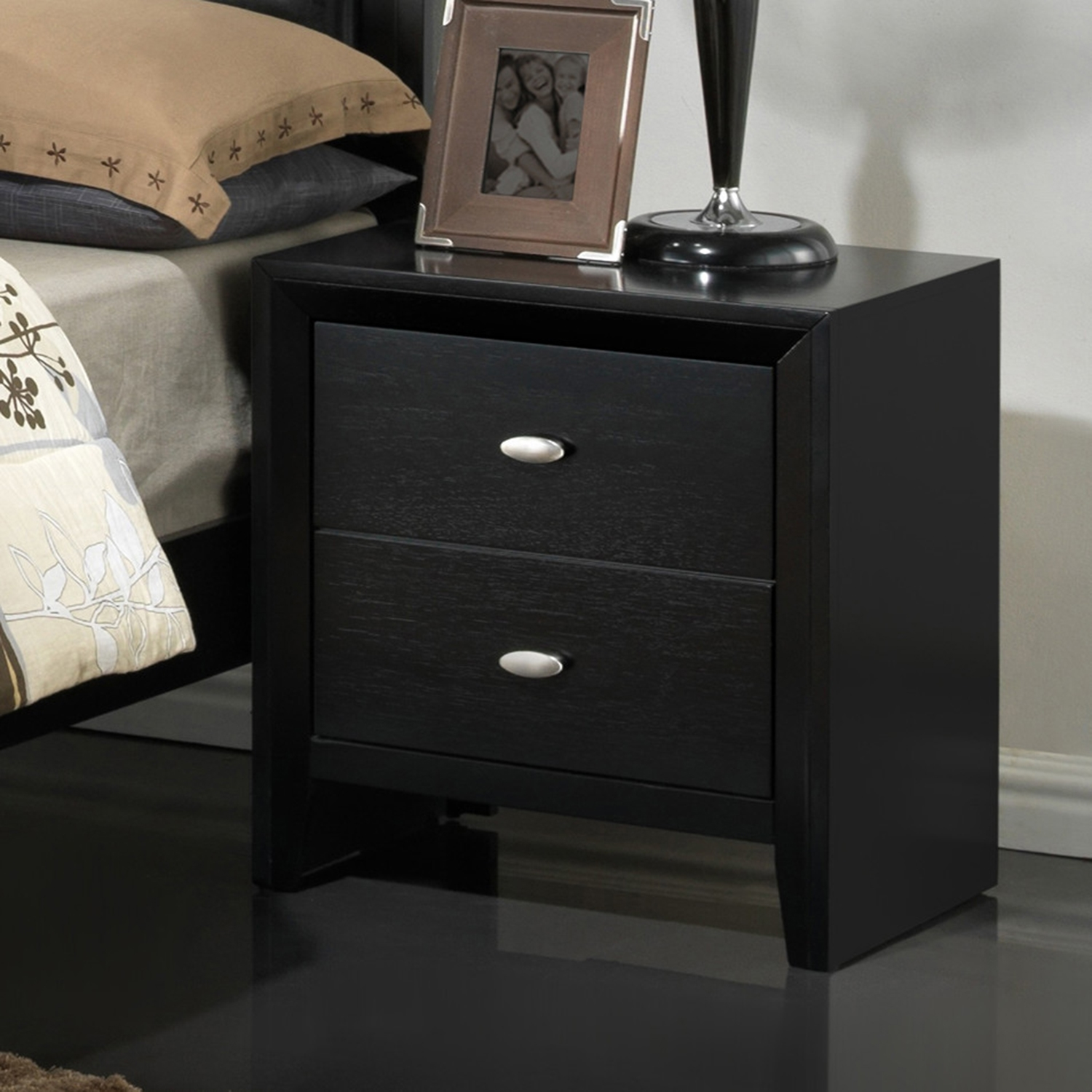 Carolina Nightstand, Black