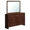 Carolina Bedroom Set, Brown Cherry - GLO-CAROLINA-FD0035B-M-SET