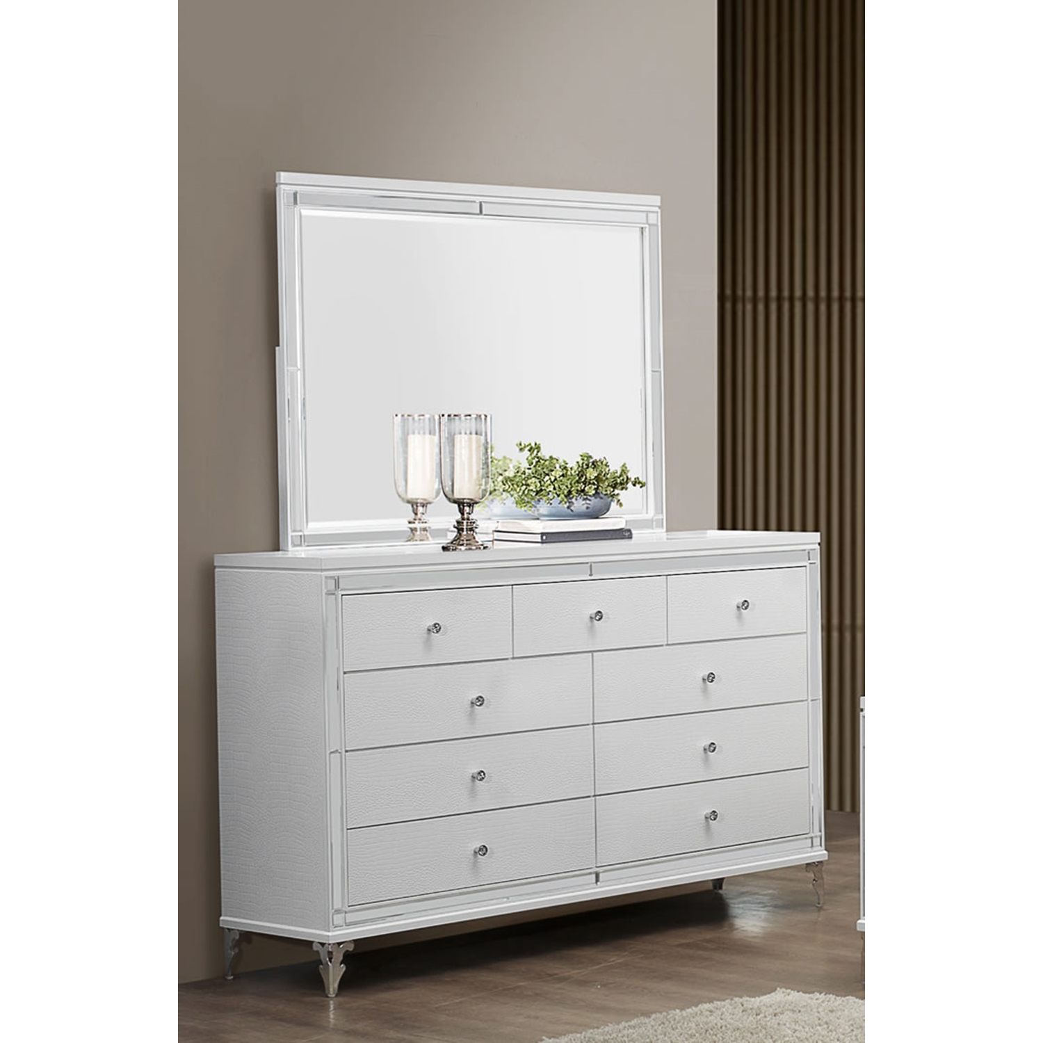 Catalina Dresser, Metallic White
