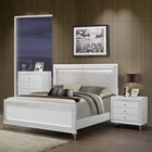 Catalina Bedroom Set in Metallic White