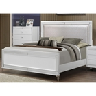 Catalina Bed in Metallic White