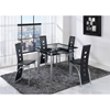 Sophia 5-Piece Counter Height Dining Set in Black