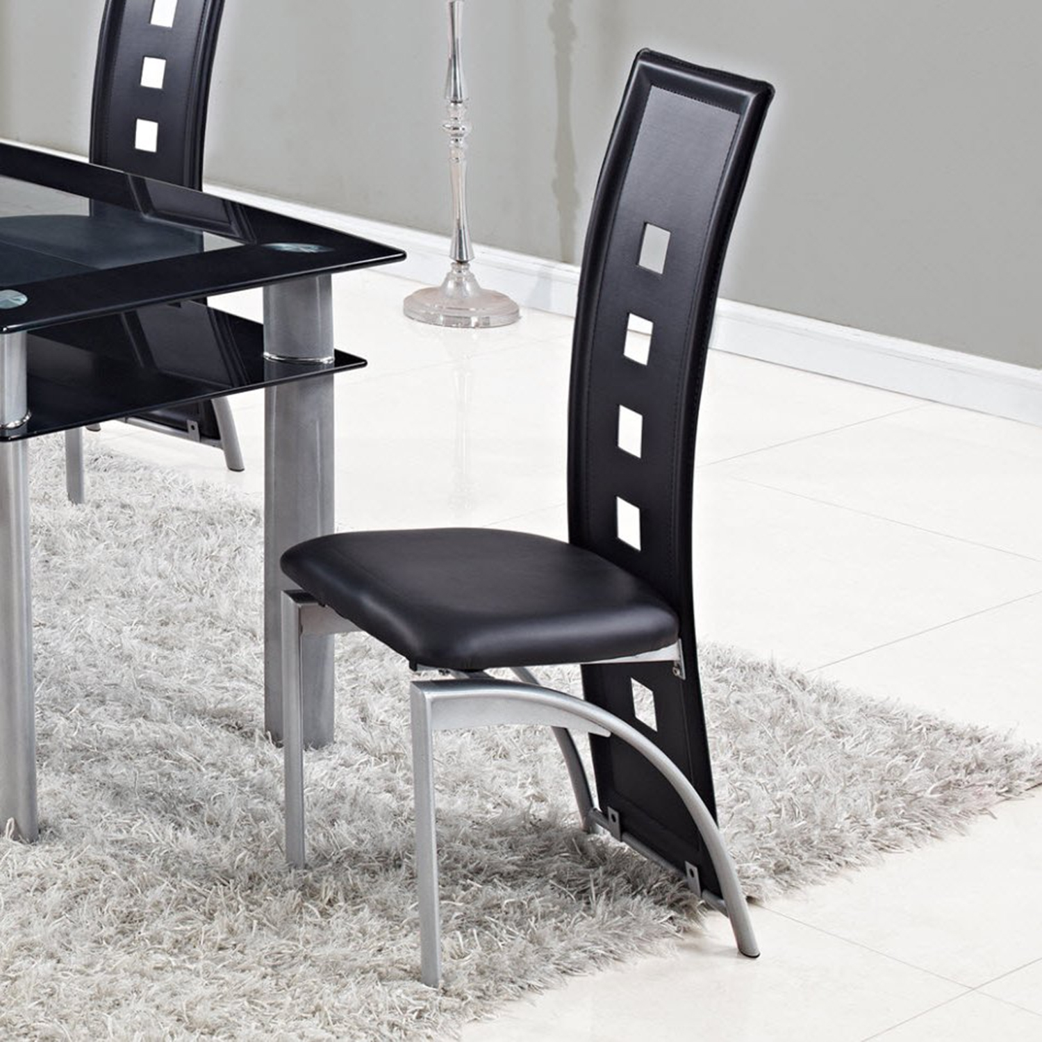 Colby 5-Piece Dining Set in Black - GLO-D1058NDT-D1058DC-M-SET