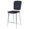 Ariana Bar Stool - Chrome/Black - GLO-D1071BS-M