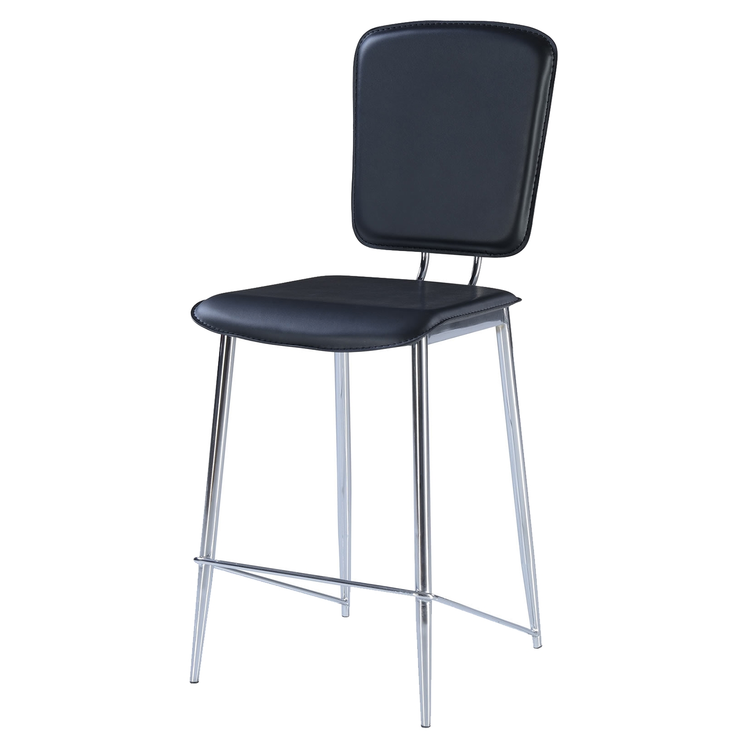 Ariana Bar Stool - Chrome/Black
