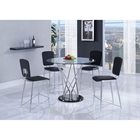 Ariana 5-Piece Counter Height Dining Set - Chrome Legs