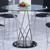 Ariana Counter Height Table in Clear, Chrome, and Black