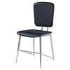 Ariana Dining Chair, Black/Chrome