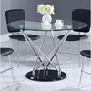 Ariana Dining Table - Clear/Chrome/Black