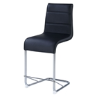Sophie Bar Stool in Black and Chrome