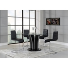 Sophie 5-Piece Counter Height Dining Set - Black
