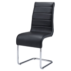 Caitlin Dining Chair in Black and Chrome