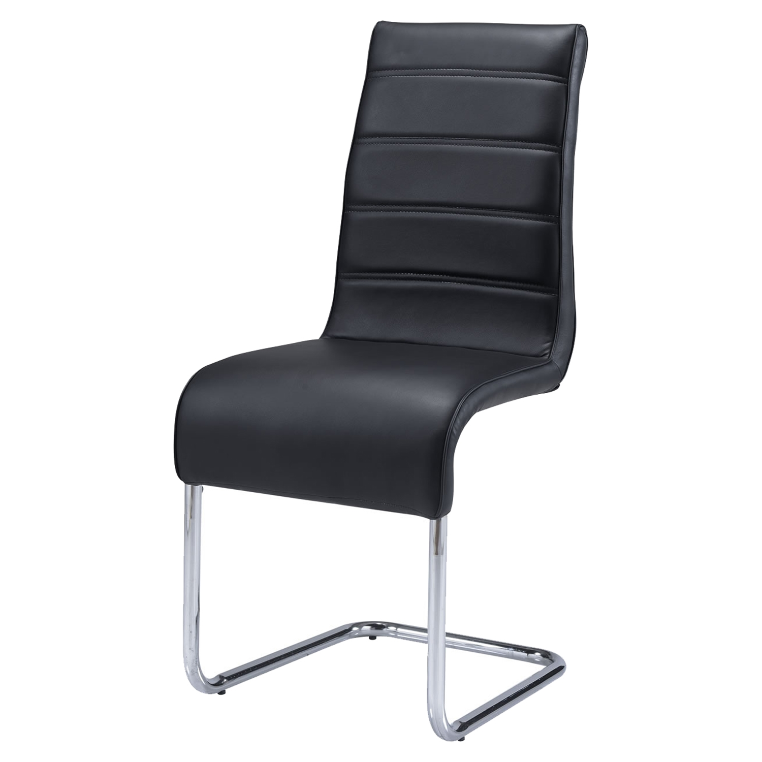Caitlin Dining Chair in Black and Chrome - GLO-D1087DC-M