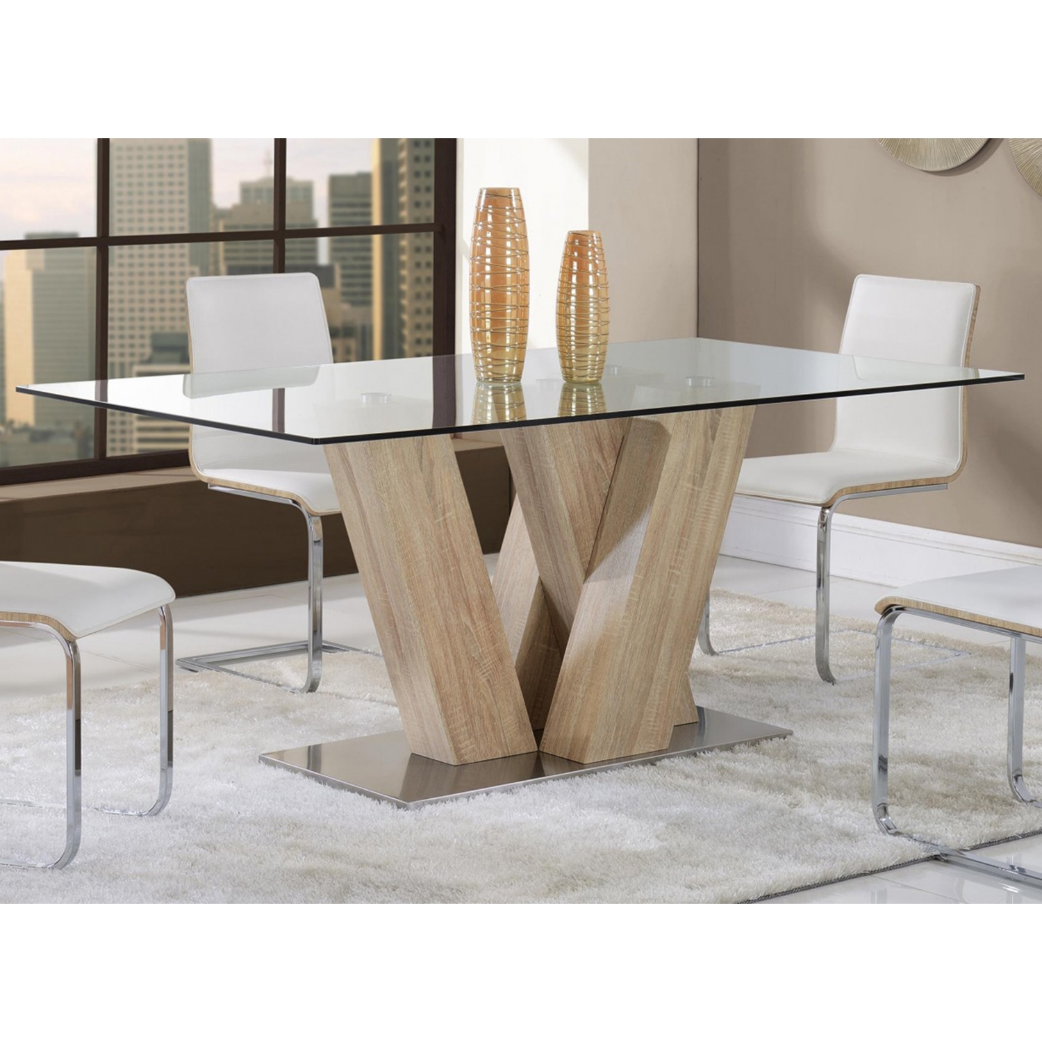 Arianna Dining Table, White