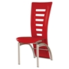 Sabrina Dining Chair - Red Upholstery, Silver Legs