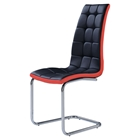 Kimberly Dining Chair, Black/Red Trim