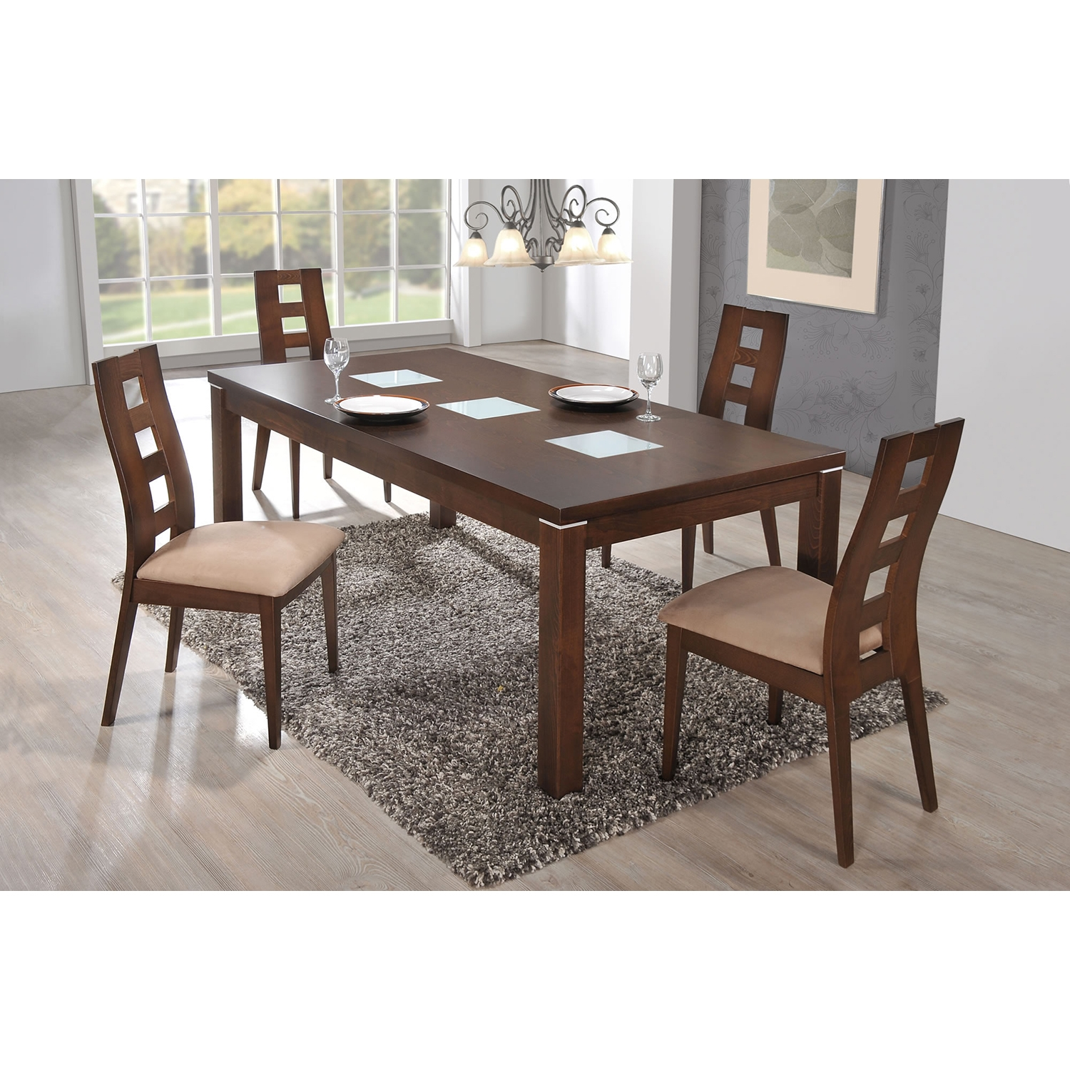 Amanda Dining Table in Burn Beech - GLO-D4930DT-M
