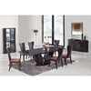 Sara 7-Piece Dining Set in Wenge